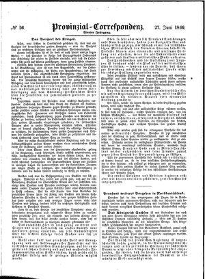 Provinzial-Correspondenz vom 27.06.1866
