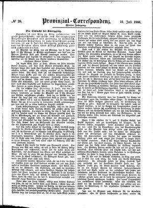 Provinzial-Correspondenz vom 11.07.1866