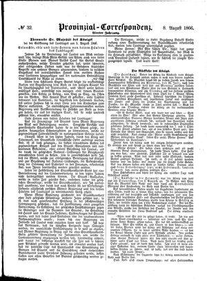 Provinzial-Correspondenz vom 08.08.1866