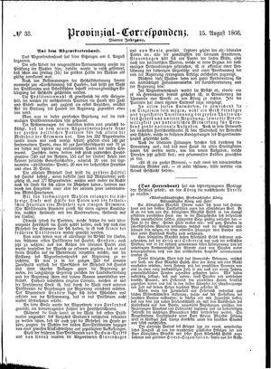 Provinzial-Correspondenz vom 15.08.1866