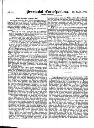 Provinzial-Correspondenz vom 29.08.1866