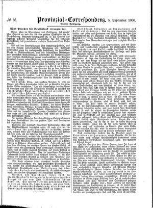 Provinzial-Correspondenz on Sep 5, 1866