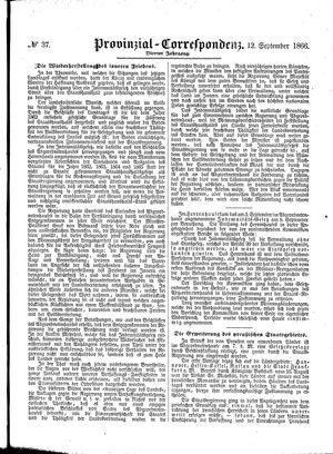 Provinzial-Correspondenz vom 12.09.1866