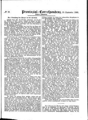 Provinzial-Correspondenz vom 19.09.1866