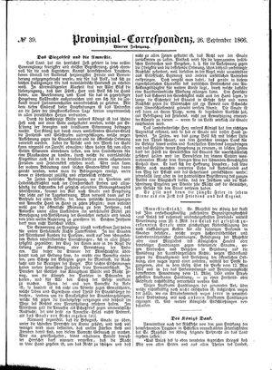 Provinzial-Correspondenz vom 26.09.1866