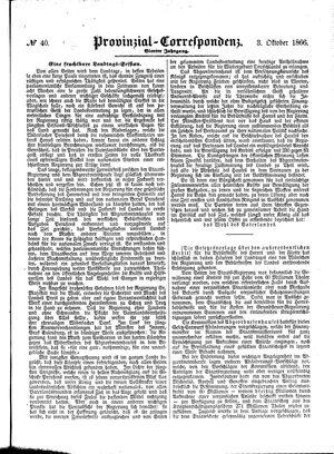Provinzial-Correspondenz vom 03.10.1866