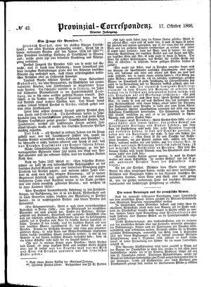 Provinzial-Correspondenz vom 17.10.1866