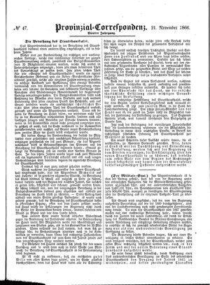 Provinzial-Correspondenz vom 21.11.1866