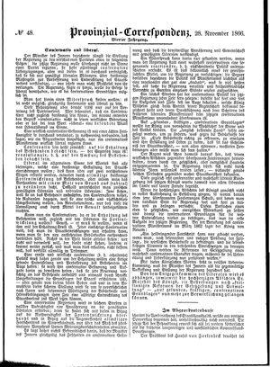 Provinzial-Correspondenz vom 28.11.1866