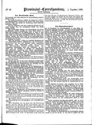 Provinzial-Correspondenz on Dec 5, 1866