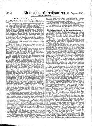 Provinzial-Correspondenz vom 12.12.1866