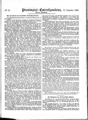 Provinzial-Correspondenz vom 19.12.1866