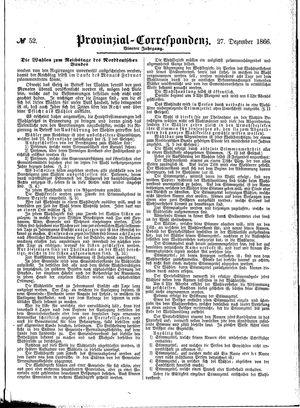 Provinzial-Correspondenz vom 27.12.1866