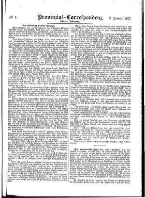 Provinzial-Correspondenz vom 02.01.1867