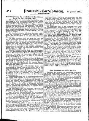 Provinzial-Correspondenz vom 23.01.1867