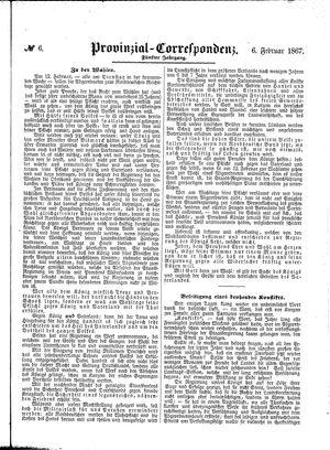 Provinzial-Correspondenz vom 06.02.1867
