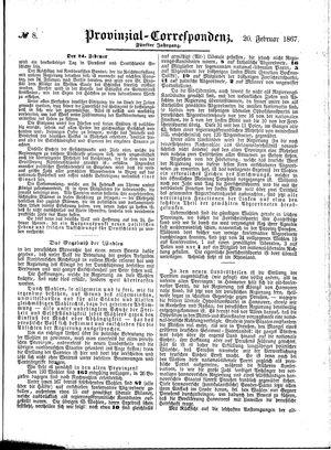 Provinzial-Correspondenz vom 20.02.1867
