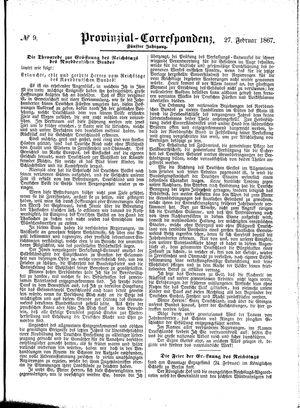 Provinzial-Correspondenz vom 27.02.1867