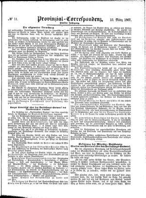 Provinzial-Correspondenz vom 13.03.1867