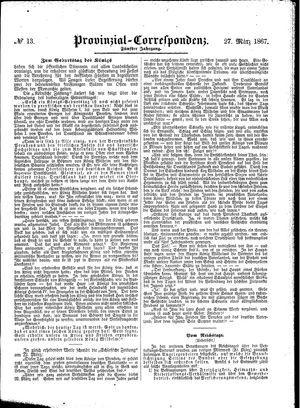 Provinzial-Correspondenz vom 27.03.1867