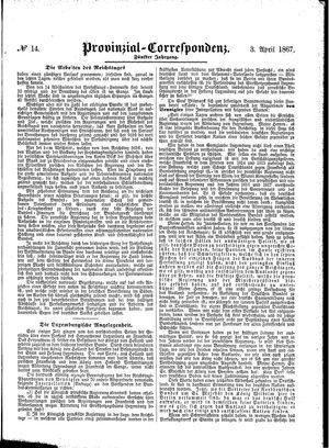 Provinzial-Correspondenz on Apr 3, 1867