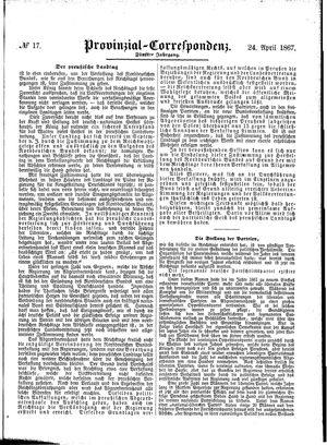 Provinzial-Correspondenz vom 24.04.1867