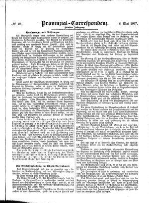 Provinzial-Correspondenz vom 08.05.1867
