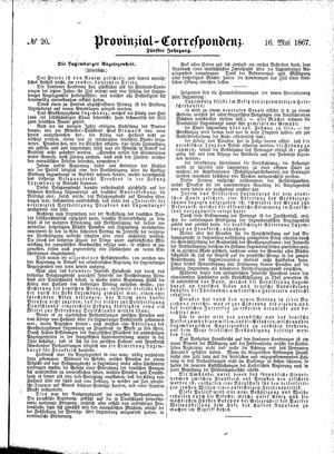Provinzial-Correspondenz vom 16.05.1867