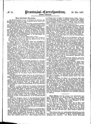 Provinzial-Correspondenz on May 29, 1867