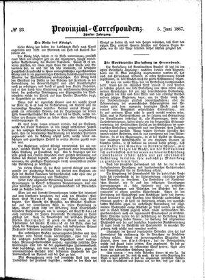 Provinzial-Correspondenz vom 05.06.1867