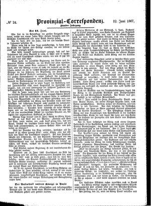 Provinzial-Correspondenz vom 12.06.1867