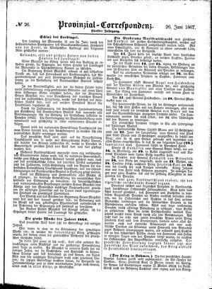Provinzial-Correspondenz vom 26.06.1867