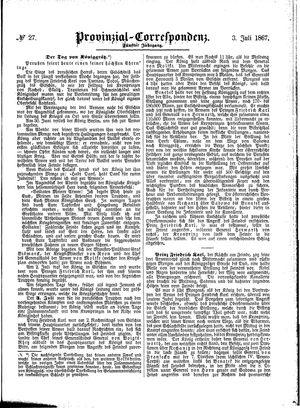 Provinzial-Correspondenz on Jul 3, 1867