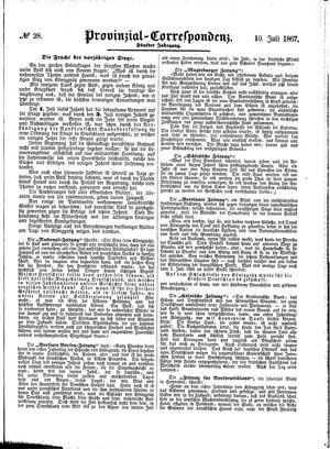 Provinzial-Correspondenz vom 10.07.1867