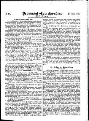 Provinzial-Correspondenz vom 17.07.1867