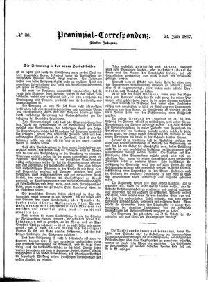 Provinzial-Correspondenz on Jul 24, 1867