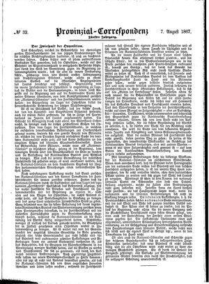 Provinzial-Correspondenz on Aug 7, 1867