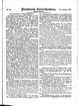 Provinzial-Correspondenz vom 28.08.1867