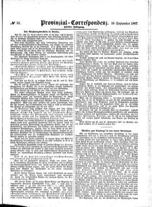 Provinzial-Correspondenz vom 18.09.1867