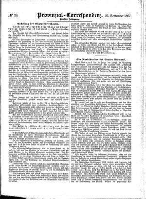 Provinzial-Correspondenz vom 25.09.1867