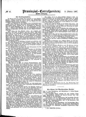 Provinzial-Correspondenz on Oct 9, 1867