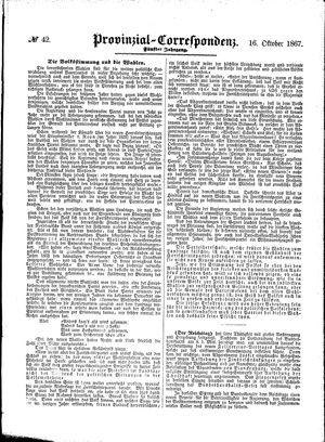 Provinzial-Correspondenz vom 16.10.1867