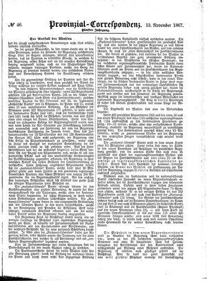 Provinzial-Correspondenz vom 13.11.1867