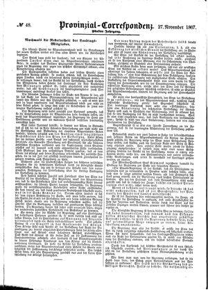 Provinzial-Correspondenz vom 27.11.1867