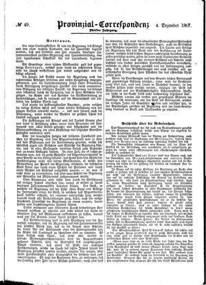Provinzial-Correspondenz vom 04.12.1867