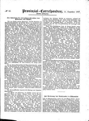 Provinzial-Correspondenz vom 11.12.1867