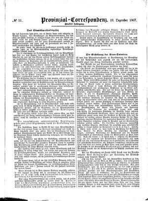 Provinzial-Correspondenz vom 18.12.1867