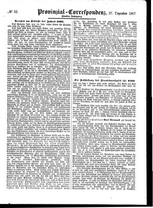 Provinzial-Correspondenz vom 27.12.1867