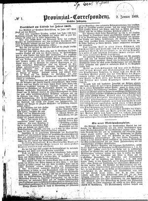 Provinzial-Correspondenz vom 02.01.1868