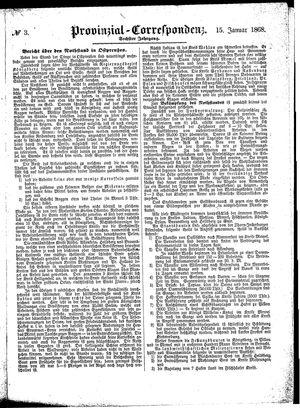 Provinzial-Correspondenz vom 15.01.1868